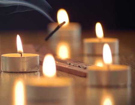 velas de incienso